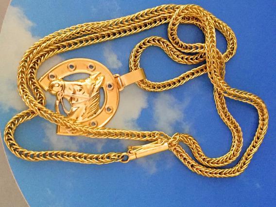 Colar Ouro 18k-27.2gr.67cm. C/pingente-27mm De Largura.