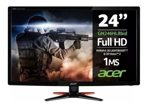 Monitor Gamer Led 24 Acer Gn246hl Full Hd 144hz 1ms Oferta