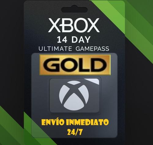 Xbox Live Gold 14 Dias + Game Pass 1 Código Envío Inmediato!