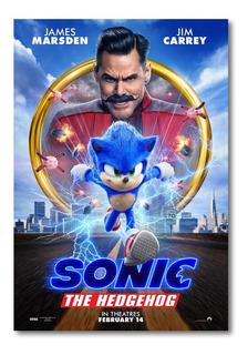Cuadro Sonic Pelicula 2020 Poster Oficial Cuarto 90x60