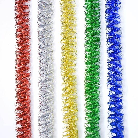 Guirnalda Navidad Lameta Rulo Color Metal 4 Cm X 2 M #1644
