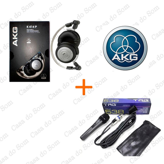Kit Fone Akg + Microfone Com Fio Tag 538 Original