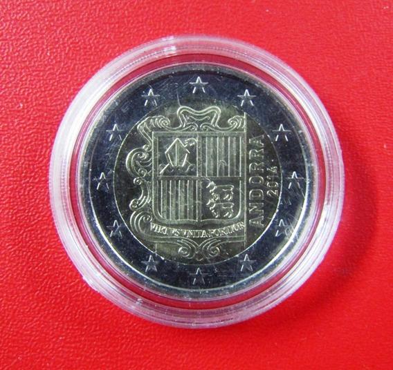 Andorra Moneda Bimetalica 2 Euro 2014 Unc Km# 527