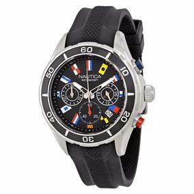 Relógio Nautica Nst 12 Chronograph Black Flag Dial