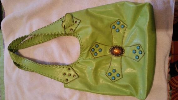 Cartera Bolso Para Dama Verde Manzana