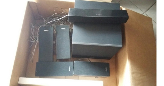 Conjunto De 5 Caixas 1 Sub Sony Home Theater