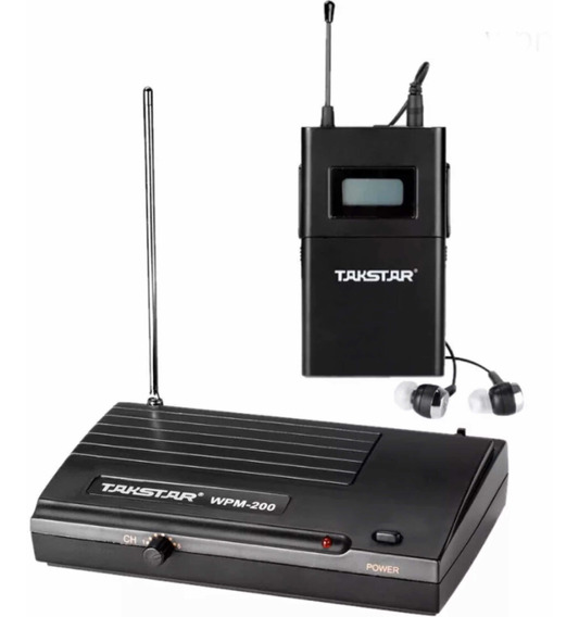 Kit Retorno De Ouvido Sem Fio Wireless ( Takstar Wpm 200 )