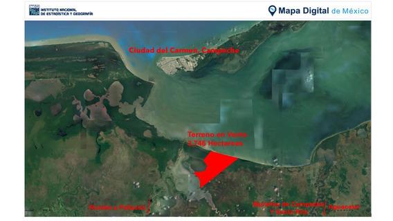 3,746 Hectáreas Junto A Laguna De Términos Carmen Campeche