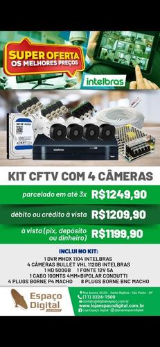 Imagem 1 de 1 de Kit Completo 4 Câmeras Intelbras