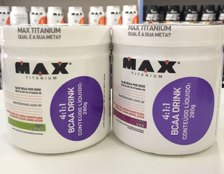 Combo 2 Unidades Bcaa 4:1:1 Drink - Max Titanium