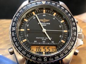 Breitling Pluton Navitimer 3100 Quartz De 1988 Raro Na Caixa