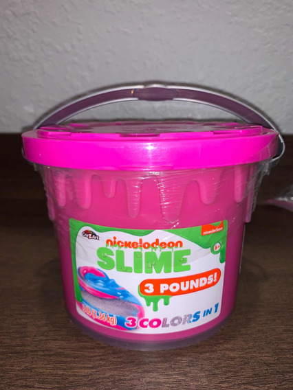 Slime Nickelodeon 1.36kg 3 Colores .. Importado