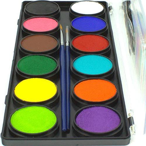 Paleta De Pintura Facial Contiene 12 Colores 120g