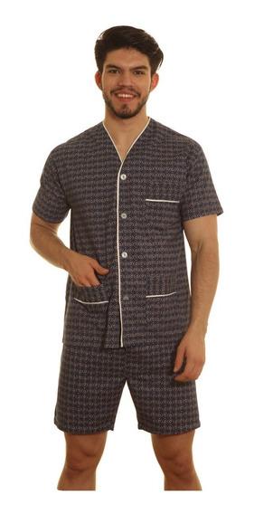 Pijama Hombre Manga Corta Bermuda 100% Algodon Verano