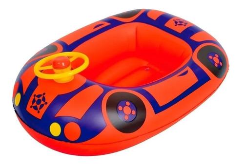 Bote Inflable Para Chicos Con Volante 67.5 X 50 Cm Baby Boat