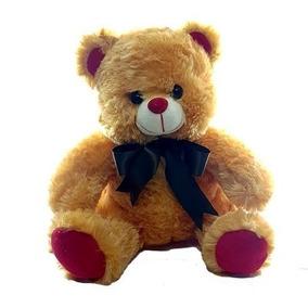 Urso Pelúcia Com Laço 25 Cm
