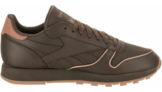 Reebok Classic Leather Army Green-rose Gold Cn2845. Unicas!