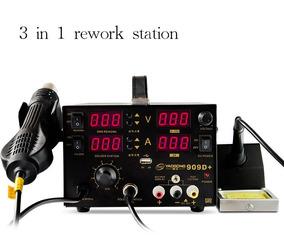 Yaogong 909d+ Estação Solda Retrabalho 3 Em 1 Usb+15v 110v