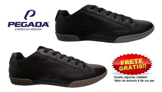 Sapatênis Pegada Sapato Masculino 117603 Couro Legítimo