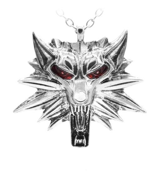 Colar The Witcher 3 Geralt De Rívia Lobo Olhos Vermelhos