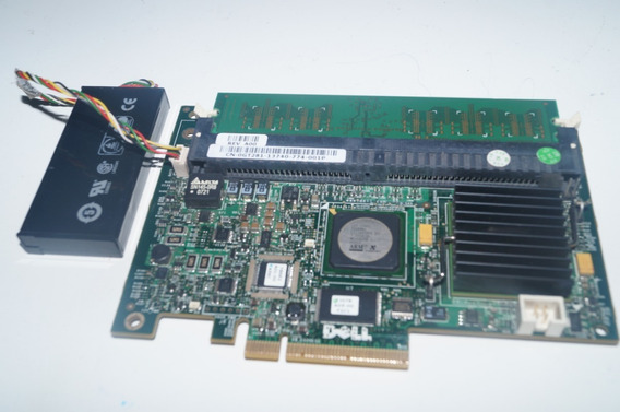 Placa Servidor Dell Perc 5i Pci-e X8 Sas + Bateria + Memoria