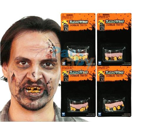 Dientes Podridos Silicona Oferta Halloween Terror Diente