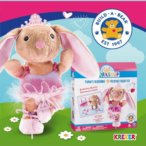 Imagen 1 de 9 de Crea Tu  Build A Bear Coneja Bailarina Original Kreker
