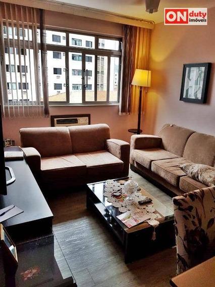 Apartamento Todo Reformado Com 2 Dormitórios À Venda, 100 M² Por R$ 340.000 - Locação: R$ 2.500,00 (pacote) - Campo Grande - Santos/sp - Ap4483