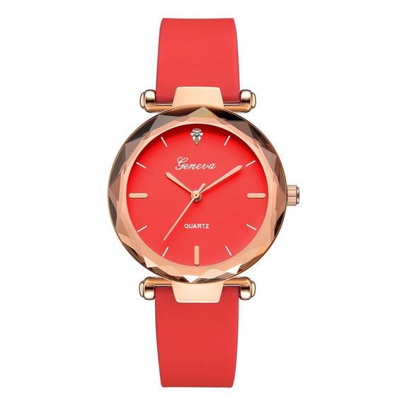 Relógio Feminina Fashion De Silicone