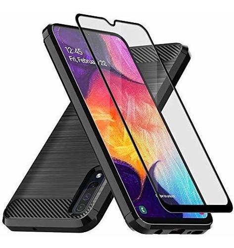Samsung Galaxy A50 Funda Con Protector De Pantalla De Crista