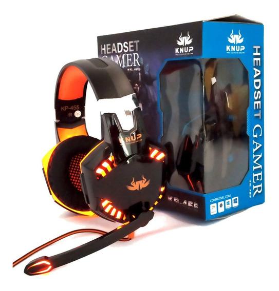 Fone Ouvido Headset Gamer Microfone Headphone Iluminação Led