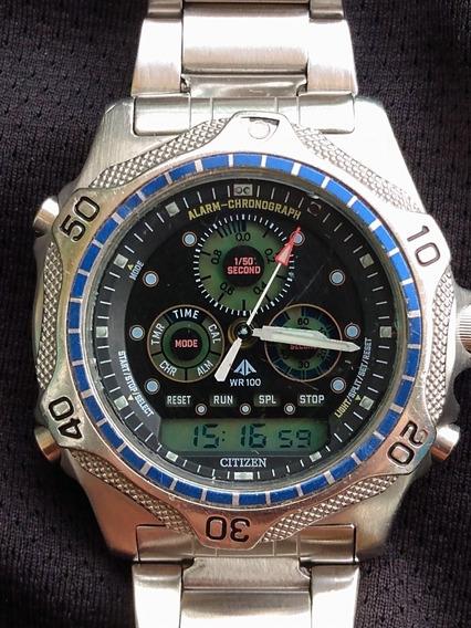 Relógio Citizen Combo C410 Quartz - Perfeito Estado - Raro