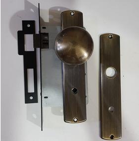 Fechadura Papaiz Espelho Antique Broca 55mm Bola P/ Banheiro