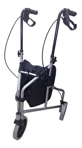 Andador 3 Rodas Prata Idoso, Adulto  100 Kgs - Inspire