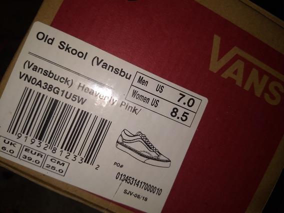 Zapatillas Vans Cuero Rosa Old Skool