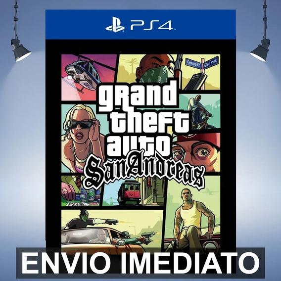 Gta San Andreas Ps4 - Envio Agora