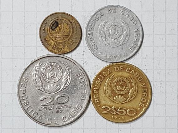 Cabo Verde Colección 4 Monedas Diferentes