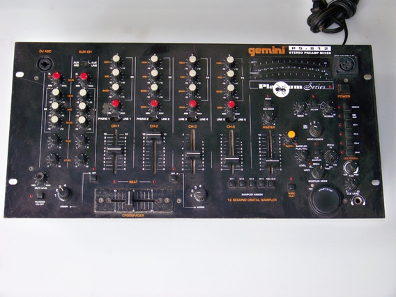 Mixer Gemini Ps-812 Com Sampler