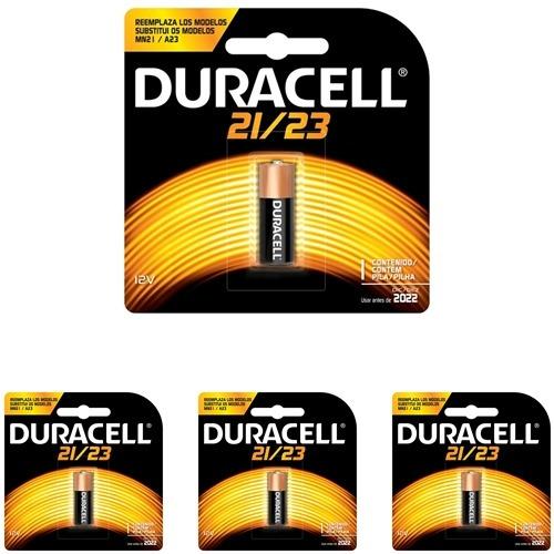 4 Baterias Duracell 21/23 Alcalina 12volts Alarmes/campainha