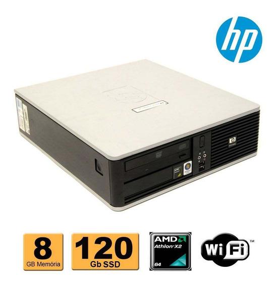 Cpu Hp Compaq Dc5850 Amd Athlon X2 8gb Ssd 120gb Wifi