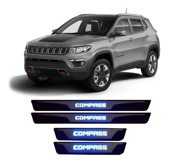 Soleira Porta Jeep Compass 2017 2018 2019 Iluminação Led