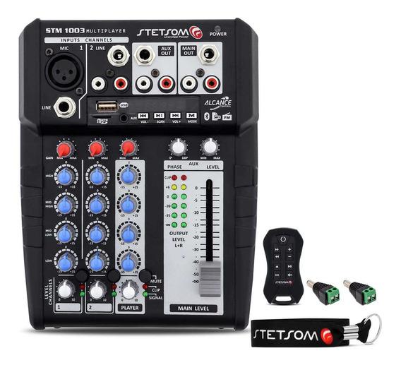 Mesa Stetsom Stm1003 3 Canais Bluetooth Sd Fm + Controle Sx2