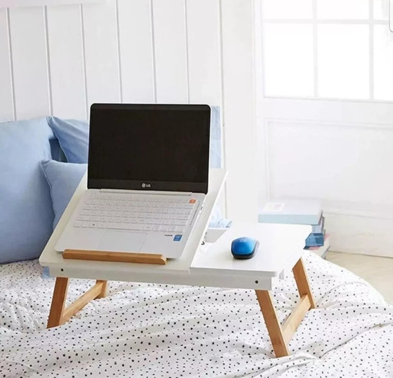 Mesa Bandeja Plegable Desayuno Base Notebook Tablet P/ Cama