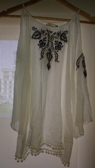 Camisa Motivi Con Etiqueta Bordada