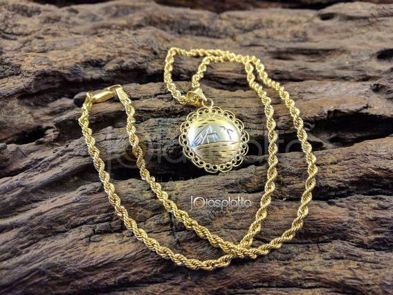 Cordão + Pingente Egípcio Em Ouro 18k - 750 - 7,3g