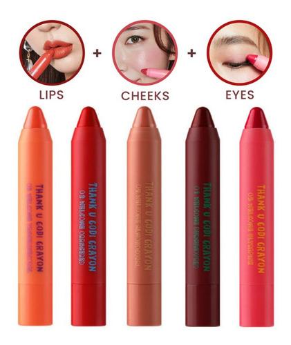 Batom 3 Em 1 Coreano - Shion Le Codi Crayon