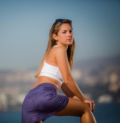 Mini Deportiva Violeta Con Short