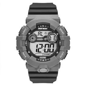 Relógio Mormaii Mo3610ab8c Preto E Cinza