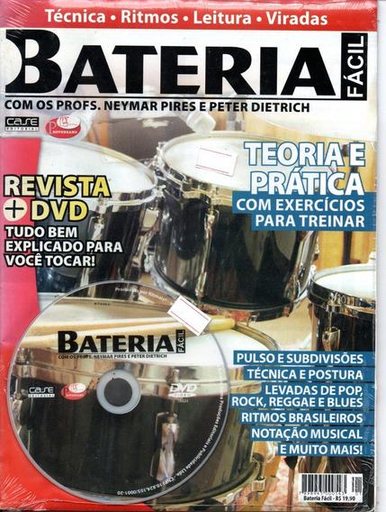 Curso De Bateria Fácil - Revista + Dvd