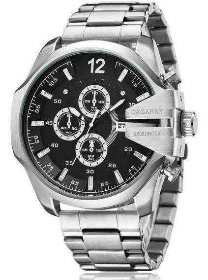 Relógio Cagarny Prata... Promoção!!!